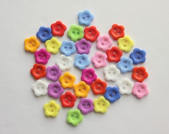 Flower Buttons - 12 Count