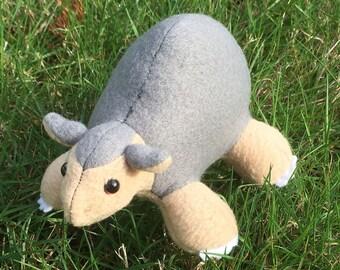 Ancient Armadillo / Glyptodont Plush