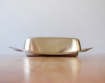 Mid Century WMF Stainless Butter Dish Germany Wagenfeld