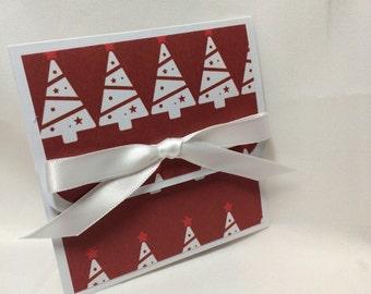 Classy Burgundy Christmas Gift Card Holder