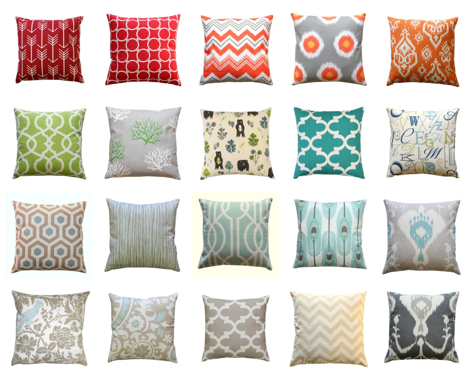 Decorative Pillows Outlet : CLEARANCE Throw Pillow Covers Decorative by ModernalityHomeDecor