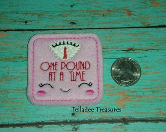 Scale One Pound at a Time- Small Pink felt - Great for Hair Bows, Reels, Clips, Pin and Crafts