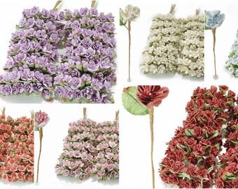 Anemone Party Favors Decorative Millinery Paper Flowers 72 pcs