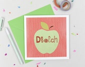 Diolch/Thank you 'Afal' Card in Welsh