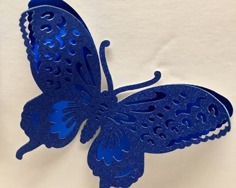 Four Large Butterflies, Double Layered Metallic Posterboard & Glitter Cardstock