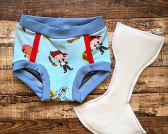 Jake and the never land pirates/ pirate toddler trainers/ potty training underwear/ training pants/ Ready to ship