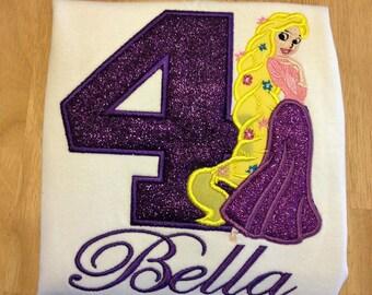 Custom Rapunzel shirt Glitter