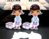 50% SALE Doc McStuffins Planar Resin Cabochons Flatback Flat Back Scrapbooking Hair Bow Center Frame Card Making Crafts Embellishments