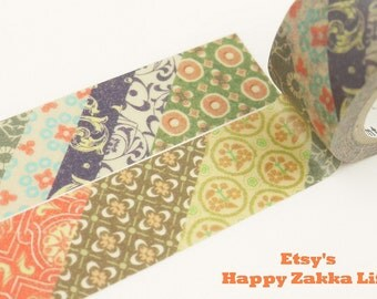 Exotic Fabrics - mt Limited Edition - Japanese Washi Masking Tape - 20mm Wide - 7.6 yard - No Discount