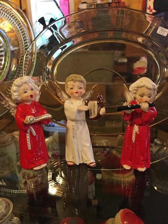 Napco Singing Angels Figurines 1950s