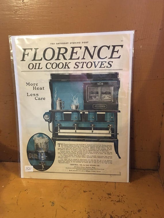 1920 Original Advertising Saturday Evening Post Florence Oil Cook Stoves Ad