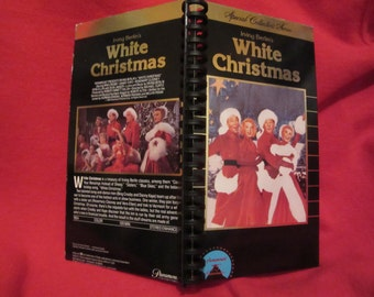 White Christmas VHS tape box notebook