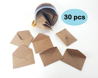 Mini Envelopes, Tiny Envelopes, Micro Envelopes, Small Kraft Envelopes, Teeny Tiny Kraft Envelopes, Tooth Fairy Envelopes, Doll Envelopes