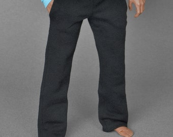 1/6th scale XXL black sweatpants tracksuit bottoms for Hot Toys TTM 20 size bigger action figures and male fashion dolls