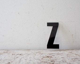Vintage Letter Z - Black Marquee Plastic Letter Z Vintage Marquee Sign Vintage Sign Z Sign