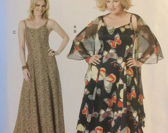 Butterick B5761, Size X Small, Small, Medium, Large, X Large, Misses' Wrap and Dress Pattern, UNCUT, Connie Crawford, 2012