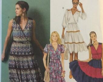 Butterick B5878, Size 6-8-10-12-14, Misses' Dress Pattern, UNCUT, Pullover Dress, Casual Dress, Sundress, Fun Dress, 2013