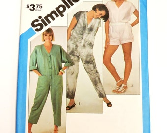 Vintage Simplicity 6394 Jumpsuit Sewing Pattern,Misses Sz Small 10-12 Very Loose Fitting, 3 Lengths Short Ankle Crop, Uncut itsyourcountry