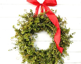 Summer Wreath-EUCALYPTUS Wreath-Fall Door Wreath-Winter Wreath-Farmhouse Decor-Christmas Wreath-Year Round Wreath-Weatherproof Wreath-Gifts