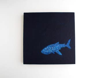 Whale Shark Painting - 8 x 8