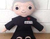 Catholic Doll - Saint Maximilian Kolbe - Wool Felt Blend - Catholic Toy - Felt Doll
