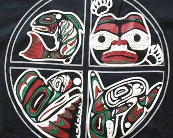Vintage Native Symbols Graphic T-Shirt 1991