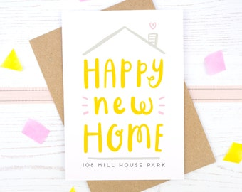 Happy New Home Card - Personalised New Home Card - New House Card - New Home Gift - Moving Card - Housewarming Card