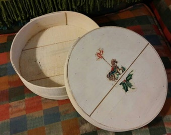 Round Box, Small Cheese Box, Round Wooden Box, Christmas Box, Storage Box, Cheese Box, Keepsake Box