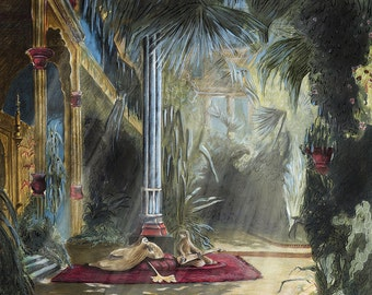 Sloth Life - Interior of the Palm House - Print