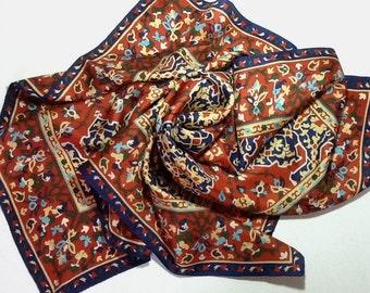Metropolitan Museum of Art MMA silk scarf Ottoman Turkish Oriental rug free shipping USA