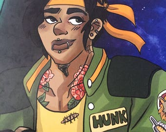 Punk themed Hunk from Voltron Legendary Defender print