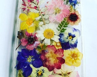 Pressed Wild Flower phone cases made to order. Smartphone Iphone Samsung mobile phone device