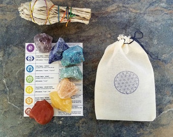 Chakra Stone Set, Raw Chakra Stones, Meditation Stone Set, Healing Stones, Chakra Stones, Crystal Therapy, Chakra Crystal Set