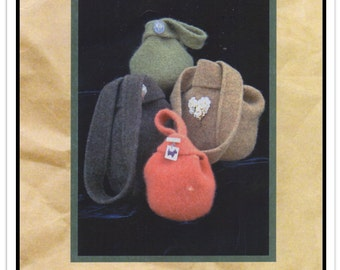 THE LUCY BAG by Two Old Bags - Knitted and Felted Evening, Small or Large Bag w/Shoulder Strap Options - Unused - Vtg 2003