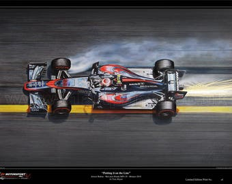 Jenson Button - McLaren MP4-30 - Monaco 2015 Limited Edition Art Print