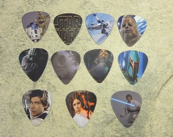 Set of 11 Star Wars single sided picture guitar picks