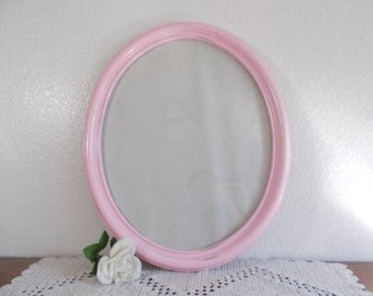 Large Pink Oval Frame Rustic Shabby Chic Distressed Picture Photo Cottage Home Decor Vintage Wedding Photo Prop Decoration Gift Her