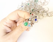 lot of 100 pieces rings with small rhinestones Assemblage mix media steampunk supplies