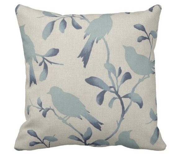 Blue Bird Throw Pillows : blue bird pillows couch pillows decorative pillows blue