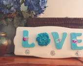 Jewelry Organizer, Necklace Holder, LOVE sign, Jewelry Hanger, Wall Decor, LOVE wooden decor, Coat hanger