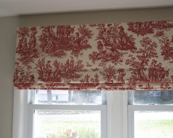 FAUX Roman-Shade/Valance - 60'' wide x 18'' long-idea-for-kitchen-bath-room-play-room-family-room - Pick a Color