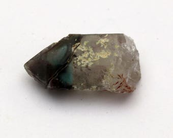 Ajoite in Quartz Crystal Point Messina South Africa