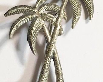 Vintage Beau Sterling Palm Tree Brooch