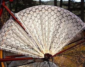 Bicycle skirt guard. 'Wild Rose'. Bicycle accessories, cruiser accessories, bicycle wedding, bike skirt guard