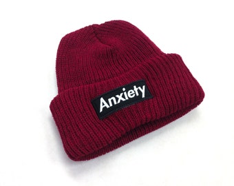 Anxiety Beanie - Red