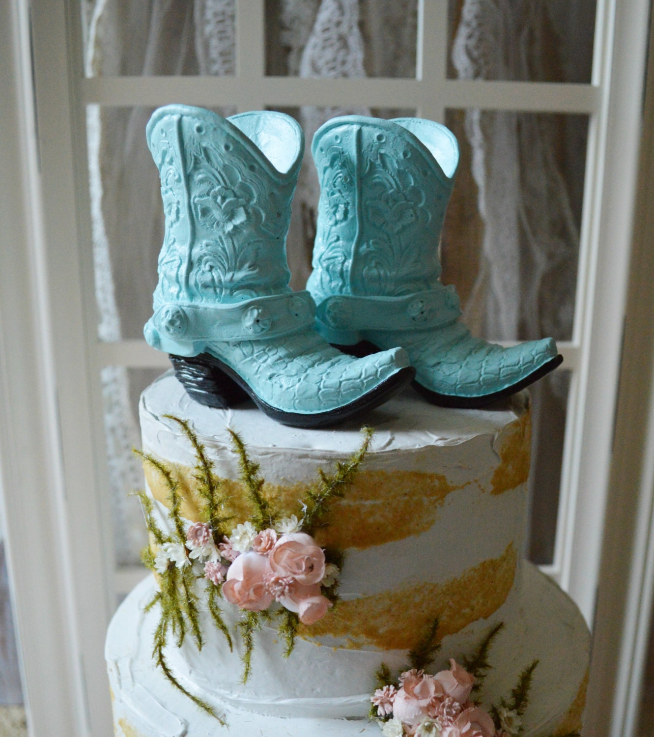cowgirl boots birthday party bridal shower by MorganTheCreator