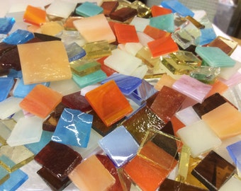100 GRAB BAG #5 MOSAIC MiX Stained Glass Mosaic Tiles Mix Size & Color