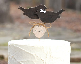 Love Birds Cake Topper Personalization Choice
