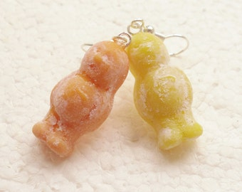 Jelly Babies Earrings. Polymer Clay.