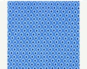 SHOP CLOSING SALE Michael Miller Fabric for quilt or craft Origami Oasis collection by Tamara Kate Spot in Blue Fat Quarter
